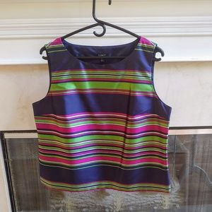 Talbots Purple/Pink/Green Silk Top